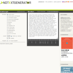 Blindtext Generator