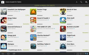 Empfohlene Apps für Tablets