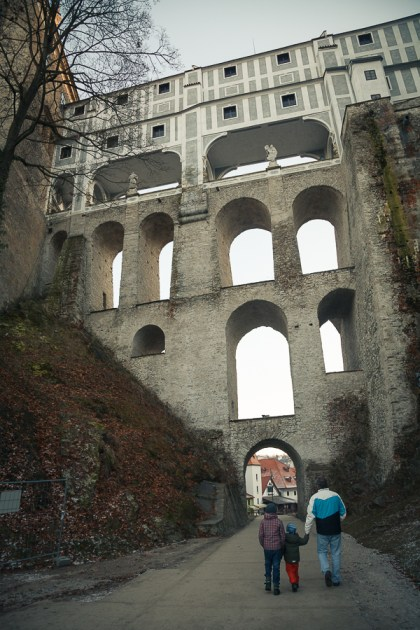 Чески Крумлов, многоярусный мост, 2012