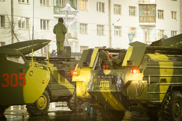 Репетиция Парада Победы, Екатеринбург, 2012