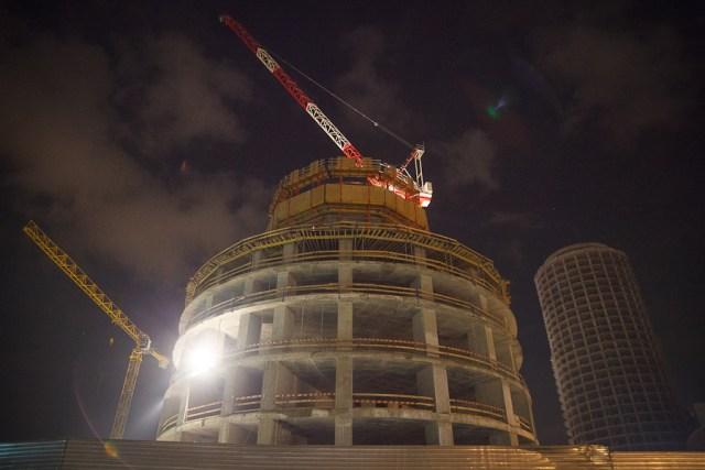 Строительство башни «Исеть», Екатеринбург
