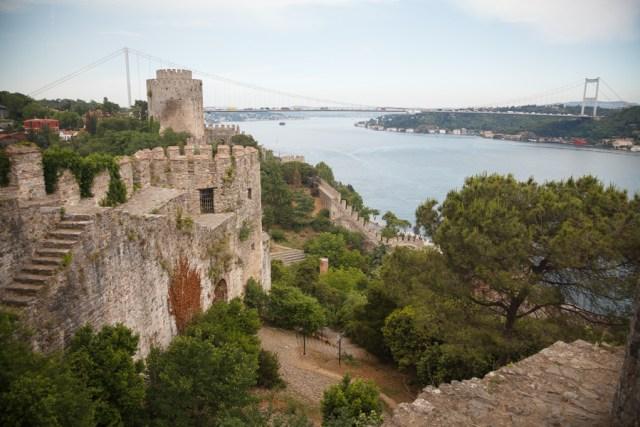 Панорама со стен крепости Румелихисар, Стамбул, 2013