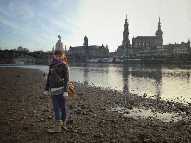 На берегу Эльбы, Дрезден, 2012