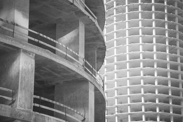 Строительство башни Исет. Екатеринбург, февраль 2013