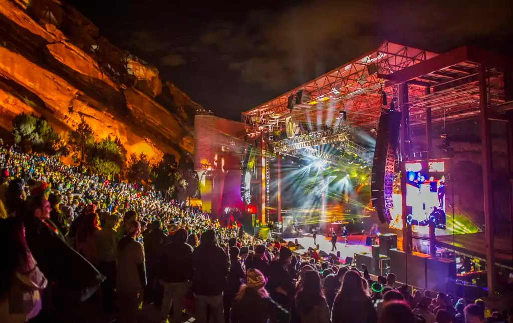 Denver Concerts   Live Music Events  VISIT DENVER red rocks winter concert 1