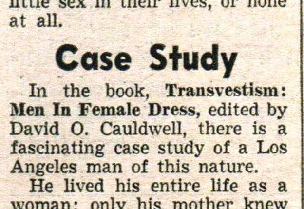 """Trans-sexualists"" - Midnight, Vol 13, No 21, 5/19/63"