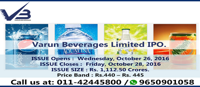 Varun Beverages IPO | Upcoming IPO – Varun Beverages Ltd