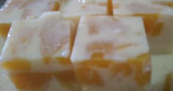 Resepi Puding Susu Buah Peach
