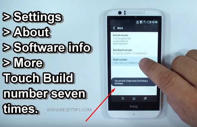 how to reset a htc phone - reset to htc developer option