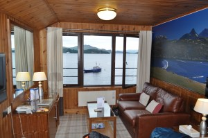 Our room overlooking Loch Lomond.