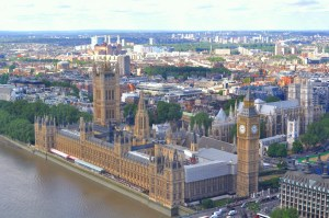 A view of Big Ben and Parliament from our pod