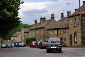 The medieval village of Eyam in the Peak District