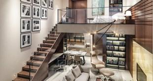 Yüksek Tavanlı Küçük Evlerde Ferahlık Veren İç Dekorasyon  (36)