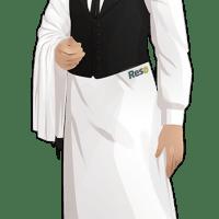 Tenue de travail du serveur de restaurant