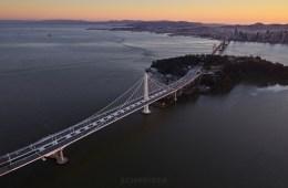 Jaron Schneider Aerial Backplate Photography San Francisco Bay Bridge