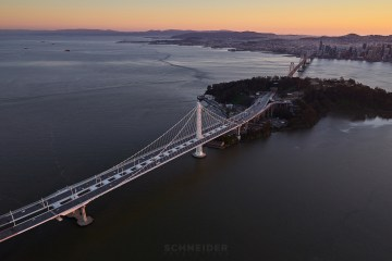Jaron Schneider Aerial Backplate Photography San Francisco Bay Bridge