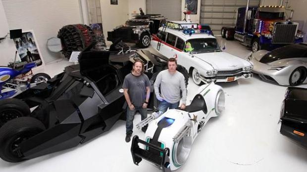 Mark and Shanon Parker with some of their custom cars at their workshop. Picture: Ruaridh