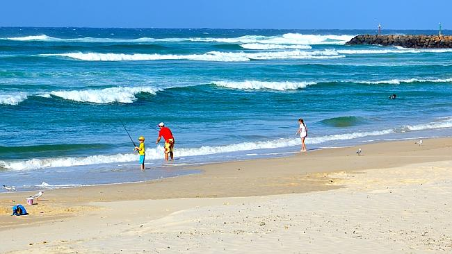 Kingscliff Beach is a beautiful spot for fishing, surfing or just relaxing in the sun.