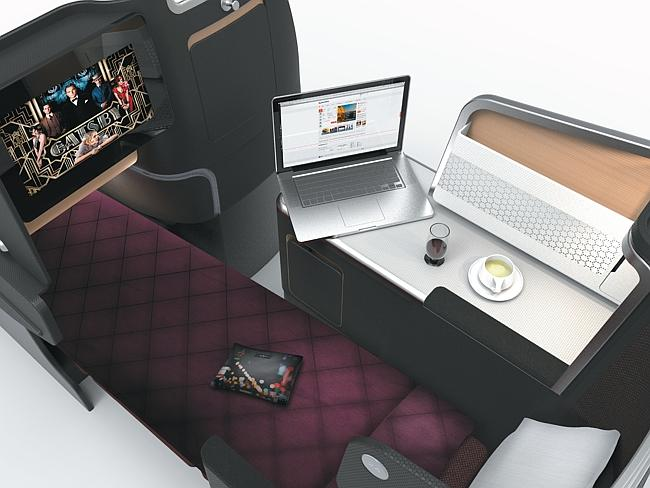 Qantas unveiled its new A330 business class suite last year.