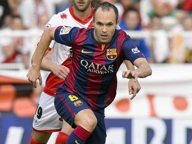 Will the real Andrés Iniesta please stand up ... Here's the FC Barcelona midfielder. Pict
