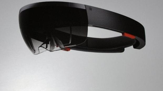 Microsoft's HoloLens headgear that overlays 3D objects on the real world.
