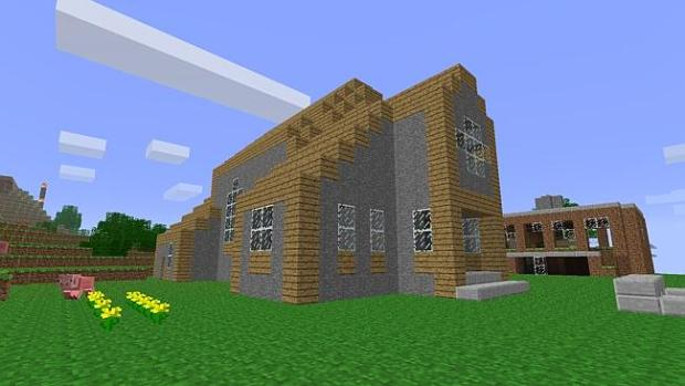 Minecraft enables players to build entire worlds from scratch.