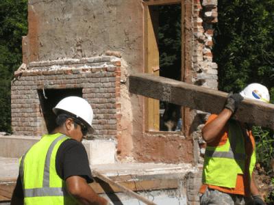 Deconstruction (Photo courtesy City of Portland).