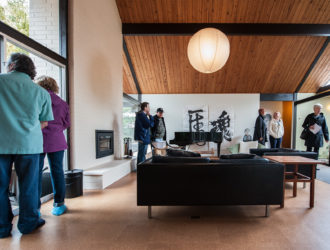 Soaring ceilings inside a Rummer living room