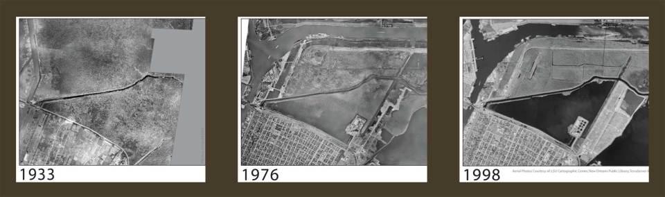 Bayou Bienvenue Wetland Triangle Land Loss Since 1933