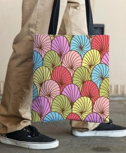 Abstract color tote bag