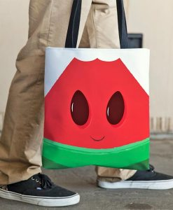 Funny watermelon tote bag