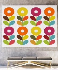 Scandinavian flowers canvas art horizontal
