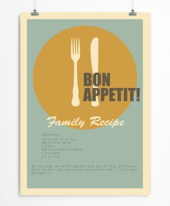 Family recipe poster
