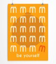 Be yourself quote Yellow poster