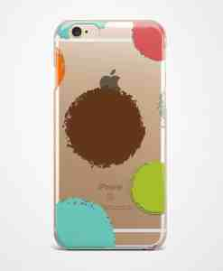 Color dots transparent iPhone case