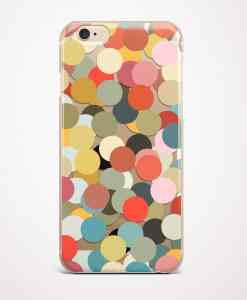 Confetti transparent iPhone case