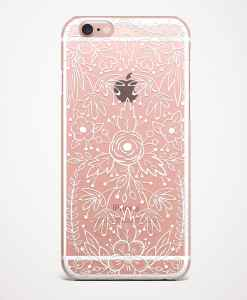 lace white phone case pink
