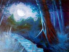 Luz de Luna, acrílico, autor: Jose Manuel Gallego Garcia