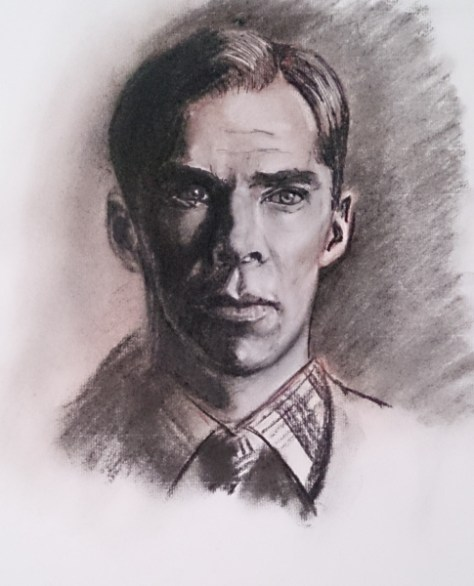 Cumberbatch: The Imitation Game. Author: Jose Manuel Gallego Garcia. All Rights Reserved. Visit: retratarte.org