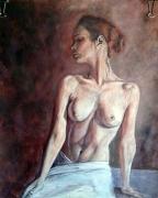 El Ombligo, pintura mixta acrilico y pastel, autor: Jose Manuel Gallego Garcia, todos los derechos reservados, visita retratarte.com