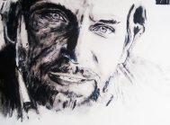 Bradley Cooper: retrato al acrílico. Autor: Jose Manuel Gallego Garcia. todos los derechos reservados. visita: retratarte.org