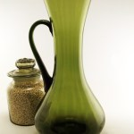 Retro modern big blown glass pitcher exported from Italy during the Italian glass craze of the mid 20th-century.