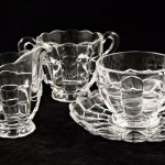 Vintage coffee set made by Cambridge Glass in 1949 - 1950's in the Cascade pattern.