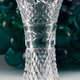 Vintage Waterford Crystal vase signed on lower outer edge of base.