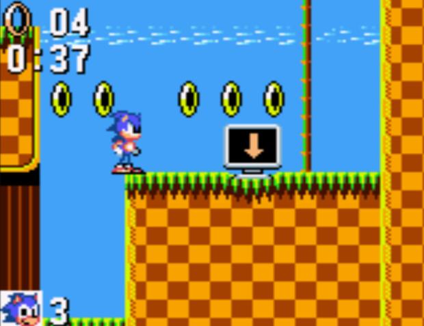 Sonic on Game Gear screenshot
