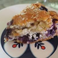 blueberry cake + lemon glaze