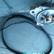 The offending timing belt, as it looked once it was pulled from the car.