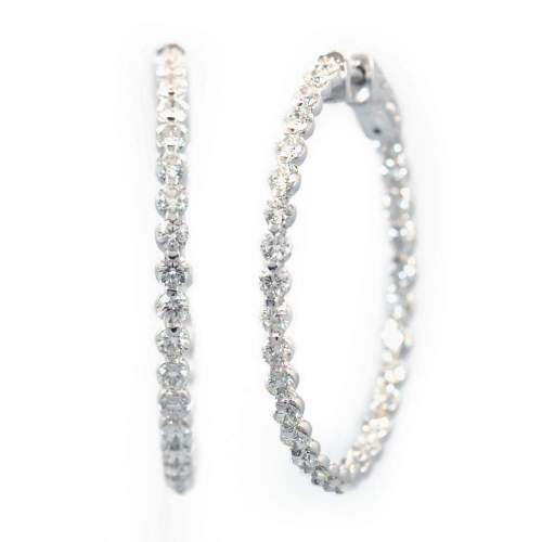 Peculiar G Diamond Hoop Earrings G Diamond Hoop Earrings Reuven Gitter Jewelers Diamond Hoop Earrings Jared Diamond Hoop Earrings Silver