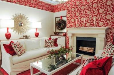 living-room-wallpaper-ideas-red   مجلة توب ماكس تكنولوجي-اجمل ورق حائط للجدران باقل ككلفه واجمل ...