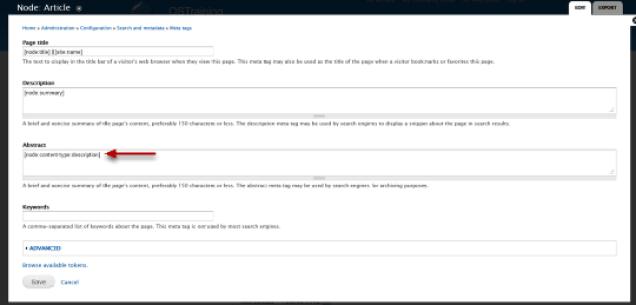 Use Meta Tags in Drupal 2